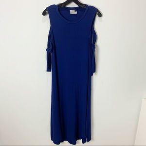 ASOS Navy Sleeveless Loose Maxi Dress 4